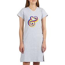 CMY Ampersand Women's Nightshirt