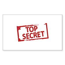 Top Secret Stamp Decal