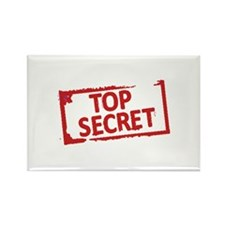 Top Secret Stamp Rectangle Magnet (100 pack)