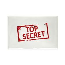 Top Secret Stamp Rectangle Magnet (10 pack)