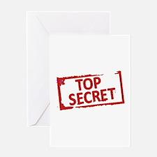 Top Secret Stamp Greeting Card