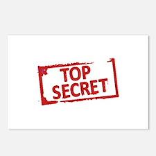 Top Secret Stamp Postcards (Package of 8)