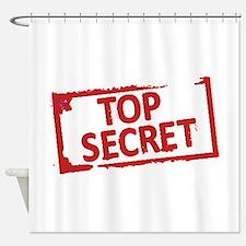 Top Secret Stamp Shower Curtain