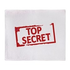 Top Secret Stamp Throw Blanket