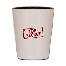 Top Secret Stamp Shot Glass