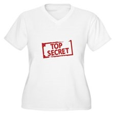 Top Secret Stamp Plus Size T-Shirt