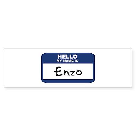 Hello: Enzo Bumper Sticker