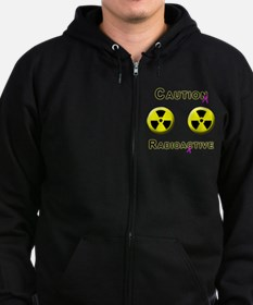 Caution Radioactive Zip Hoodie