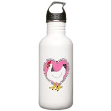 Backyard Chicken Luv Water Bottle