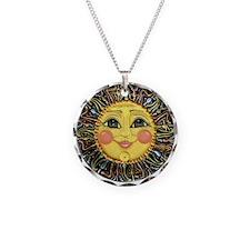 Sun Face #2 (blk) Necklace