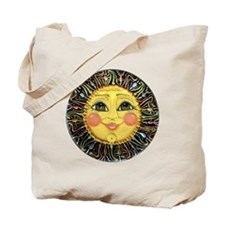 Sun Face #2 (blk) Tote Bag