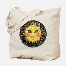 Sun Face #2 (blk) Tote Bag