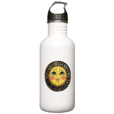 Sun Face #2 (blk) Stainless Water Bottle 1.0L