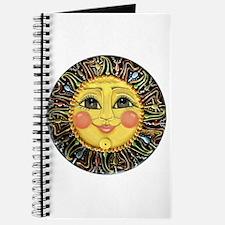 Sun Face #2 (blk) Journal