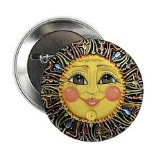 """Sun Face #2 (blk) 2.25"""" Button"""
