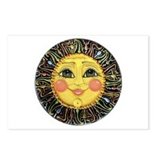 Sun Face #2 (blk) Postcards (Package of 8)