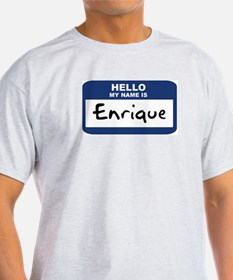 Hello: Enrique Ash Grey T-Shirt