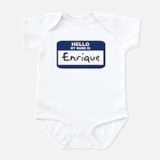 Hello: Enrique Infant Bodysuit