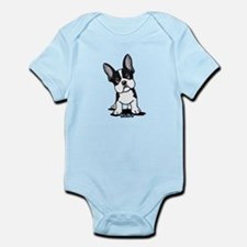 French Bulldog B/W Mask Infant Bodysuit