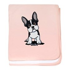French Bulldog B/W Mask baby blanket