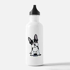 French Bulldog B/W Mask Water Bottle