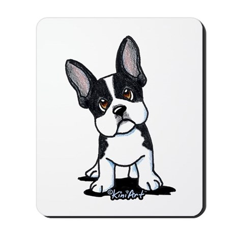 French Bulldog B/W Mask Mousepad