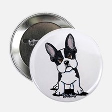 "French Bulldog B/W Mask 2.25"" Button"