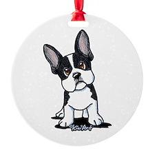 French Bulldog B/W Mask Ornament
