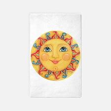 Sun Face #3 - Summer 3'x5' Area Rug