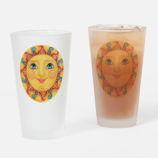 Sun Face #3 - Summer Drinking Glass