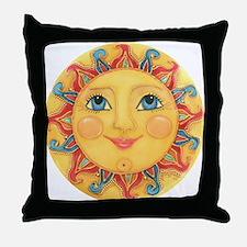 Sun Face #3 - Summer Throw Pillow