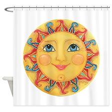 Sun Face #3 - Summer Shower Curtain