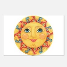 Sun Face #3 - Summer Postcards (Package of 8)