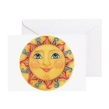 Sun Face #3 - Summer Greeting Card