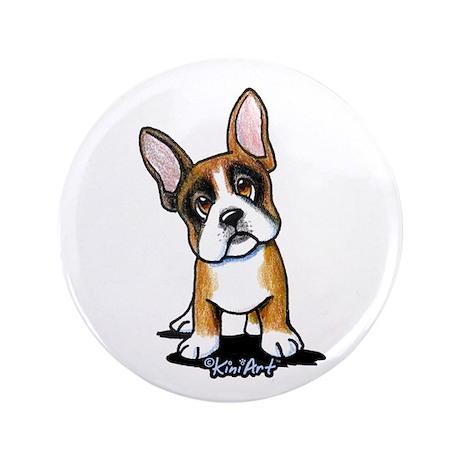"Tri French Bulldog 3.5"" Button"