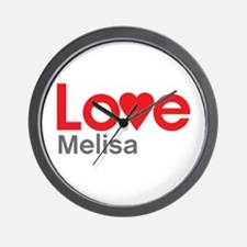I Love Melisa Wall Clock