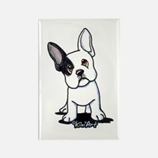 B/W French Bulldog Rectangle Magnet