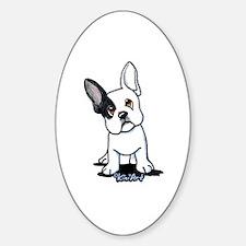 B/W French Bulldog Decal