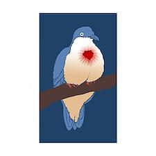 Bleeding Heart Dove Decal