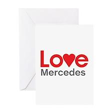 I Love Mercedes Greeting Card