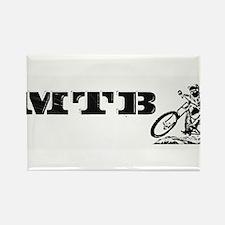 MTB BW Rectangle Magnet