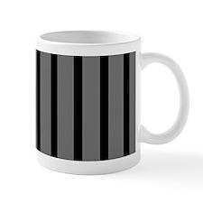 Black and Gray Striped Mug