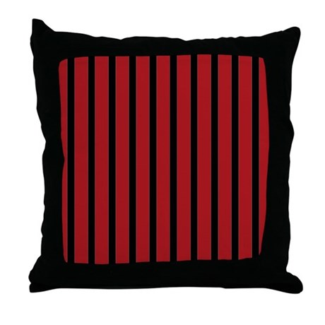 Black Stripe Throw Pillow : Red and Black Stripes Throw Pillow by stripstrapstripes