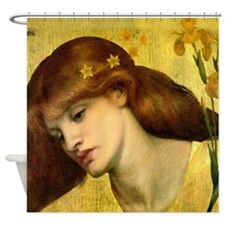 Sancta Lilias by Rossetti Shower Curtain