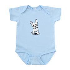 White French Bulldog Infant Bodysuit