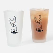White French Bulldog Drinking Glass