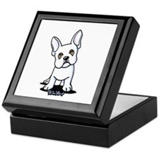 White French Bulldog Keepsake Box