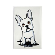 White French Bulldog Rectangle Magnet (10 pack)
