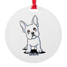 White French Bulldog Ornament