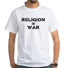 Religion Equals War Atheism Shirt